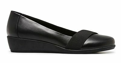 Womens Ladies Grosby - Misty Shoes Shoe Low Heel Work Black Casual Comfortable