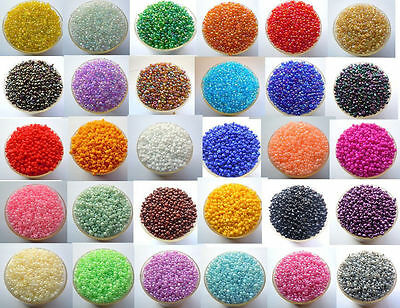 Hot DIY 2000pcs 22 Colors Czech Glass Seed Spacer Beads Jewelry Making Pick 2mm