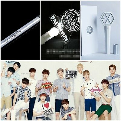KPOP EXO Concert Glowing Light stick EXO Cartoon Logo Support Customized
