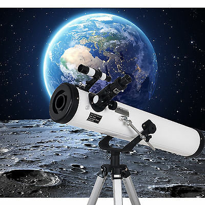 Space Explorer 700x76mm Reflector Telescope with Tripod and Eyepieces UK STOCK