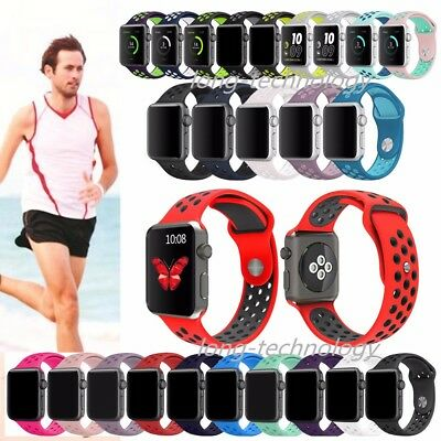 Replacement Soft Silicone Sport Fitness Bracelet Strap For Apple Watch Band