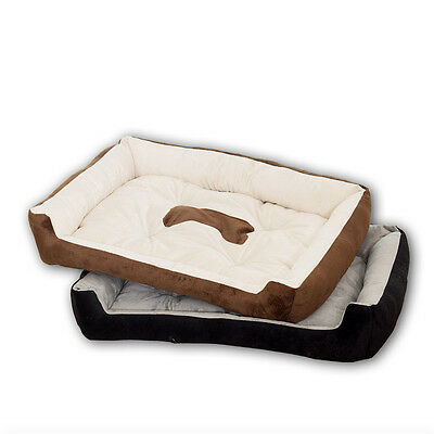 Thicken Luxury Washable Soft Warm Basket Dog Bed Pet With Fleece Lining Deluxe