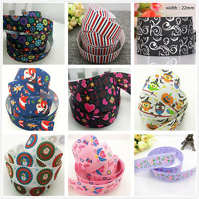 45 color 1/ 5/10 yards 25mm 1 inch print a variety of patterns bow Ribbon Crafts