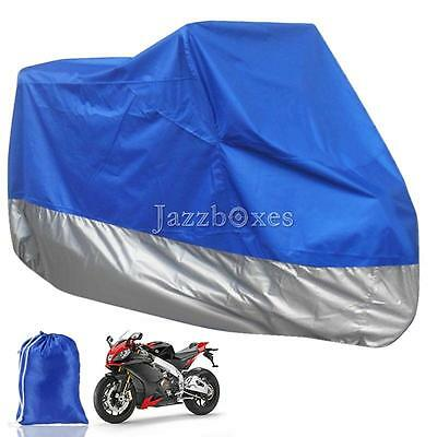 XXXL Blue Motorcycle Cover Outdoor Protector For Harley Davidson Ultra Limited