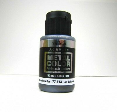 (20,47€/100ml) Vallejo Metal Colors 713 Jet Exhaust  32ml Airbrush Farbe