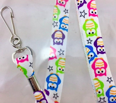 OWL LANYARD Neck ID Holder Key Medical Whistle Nurse Teacher Doctor Mobile phone