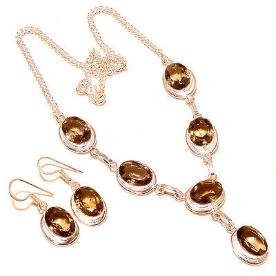 Imperial Topaz Sterling Silver Pendant + Earrings - FREE POSTAGE