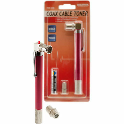 Coaxial Cable Tester Pocket Pen toner Continuity Tester LED Indicator