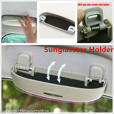 Hot Car SUV Sunglasses Holder Sun Glasses Case Eyeglass Storage Clip Grey 1pcs