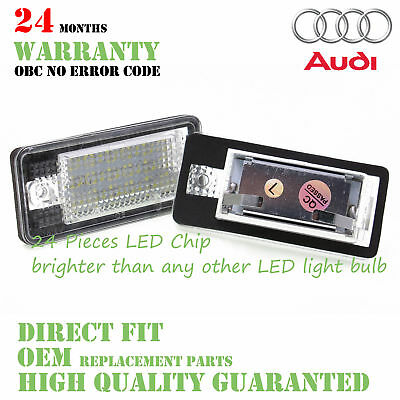 2X Easy Fit AUDI A3/A4/A5/A6+Q7 LED Licence License Number Plate Light No Error