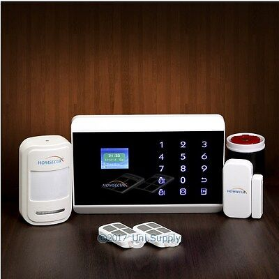 HOMSECUR Wireless&wired 3G/Phone Line LED Burglar Alarm System With Touch Panel