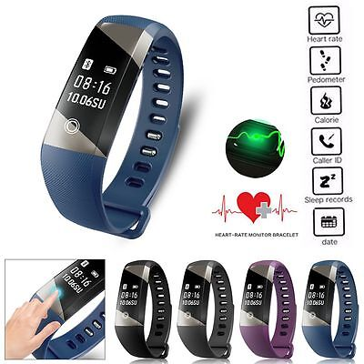 Bluetooth Smart Bracelet Heart Rate Blood Pressure Oxygen Watch For iOS Android