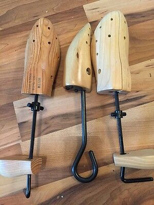 Three Wooden Extendable Shoe Stretchers