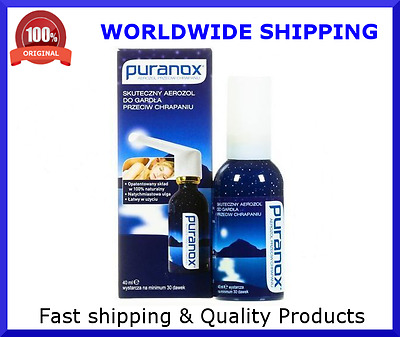 PURANOX effective anti-snoring spray 40ml Prevents and diminishes snoring