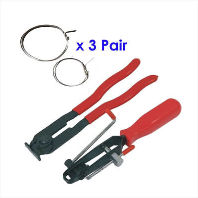 2pcs CV Joint Ear Clamp Tool Boot Crimp Pliers Hose Clamping Set With 6pc Clamps