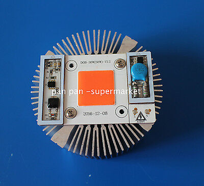 50W Full Spectrum  High Power led chip built-in driver 380NM-840NM + Heat Sink