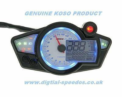 KOSO RX1N+ Digital Speedometer, Speedo Dash Gauge RPM Lights Motorcycle Kit Car