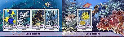 Z08 IMPERFORATED TG17106ab TOGO 2017 Fishes MNH ** Postfrisch SET