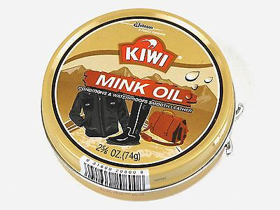 Kiwi Mink Oil Waterproofing Conditioner For Smoth Leather - 2 5/8 oz