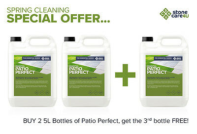 Powerful, quick-working Patio Perfect cleaner *Buy 2 bottles, get 1 extra FREE*