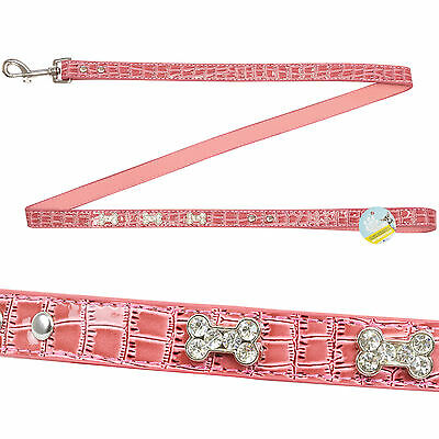 Me & My Pets Pink 1.2M Diamante Dog/puppy Walking Lead/leash Chihuahua/toy Dogs