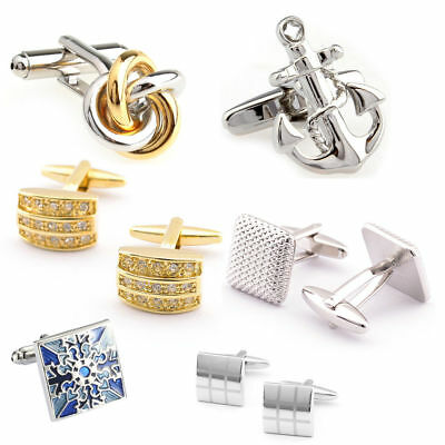 Mens Shirts Cufflinks Stainless Steel Cuff Links Wedding Business Party Gift
