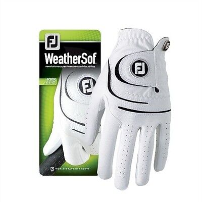 Ladies Footjoy Weathersof Golf - Left glove for Right-Handers - White - LARGE