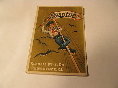 """Antique """"Soapine"""" Kendall Mfg. Co. Victorian Trade Card"""