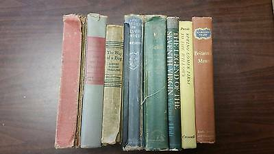 Lot of 8 Vintage Old Collectible Antique Books