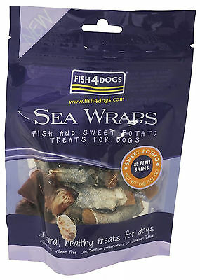 Fish 4 Dogs Sea Wraps Sweet Potato Treat 100g 3 Pack Deal