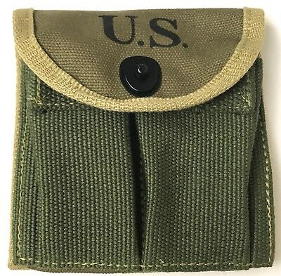 Wwii Us M1 Carbine Rifle 15Rd Butt Stock Ammo Pouch