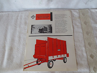 Vintage Allis Chalmers Power Feed Box  Advertising Sales Literature Brochure
