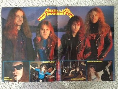 METALLICA VINTAGE 12x18 COLOR POSTER         AWESOME+RARE        CLIFF BURTON