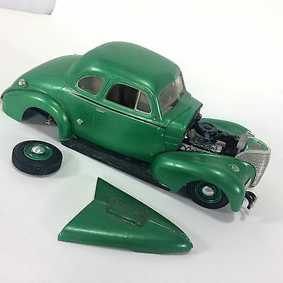 Green Chevy 1939 Model Completed Display Restoration Junkyard Parts AS IS VTG