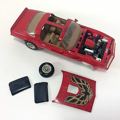 Pontiac Firebird 77-78 Red Model Completed Junkyard Parts AS IS For Parts Repair