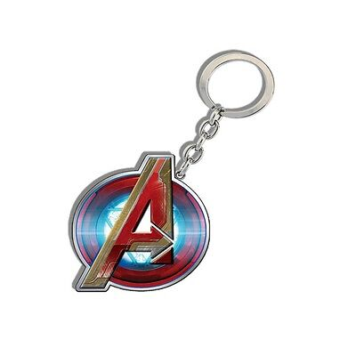 Genuine Marvel Avengers Logo Age Of Ultron 'Iron Man' Metal Keyring Ideal Gift
