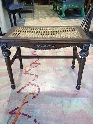 SALE! Lovely! Antique Bench Cane Seat With Detail! PICK UP ONLY Roswell, GA!!!!!