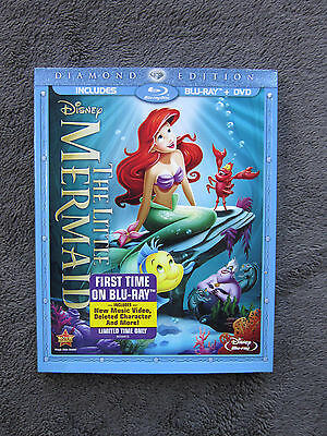The Little Mermaid (Blu-ray/DVD, 2-Disc Set, Diamond Edition) *NEW* w/SLIPCOVER