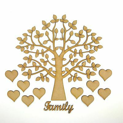 Family Tree complete Set, MDF Wooden Craft Blank,Shape, Laser cut 005