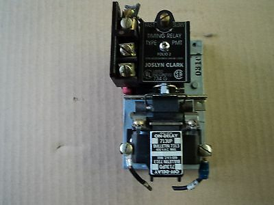 Joslyn Clark Timing Relay 713UP A On-Delay 440-480Vac Coil- Single Contact Block
