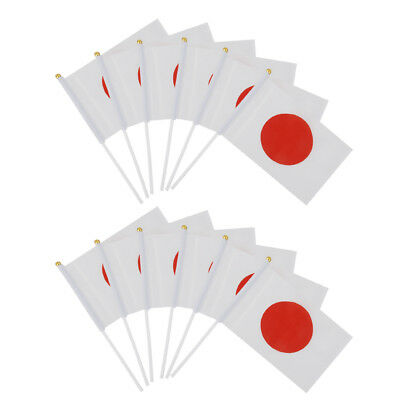 12pcs Small Hand Waving Japan Country Flags Pride Festival Desk Table Flags