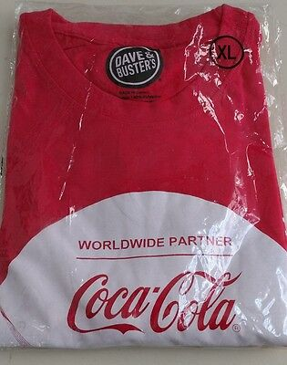 Men's Dave And Busters Coca Cola Rio Olympics 2016 Red Graphic T-Shirt Size XL