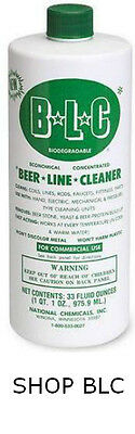 National Chemical Keg Beer Line Cleaner for Kegerators 32 oz Bottles