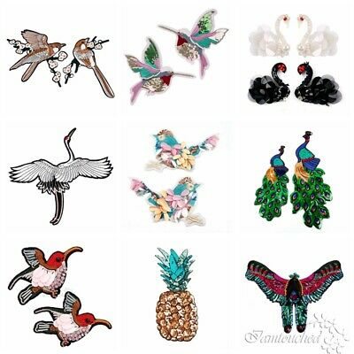 Sequins Cartoon Patches Embroidered Sew On Badge Fabric Applique Clothes Craft