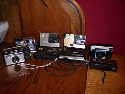 8 Vintage Kodak Cameras Untested Camera Lot