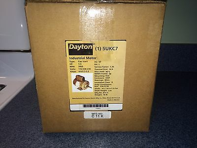 New In Box Dayton 5Ukc7 Electric Motor 1/3 Hp