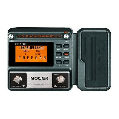 Mooer GE100 Guitar Multi-Effects FX Processor w/ Expression Pedal LCD Display
