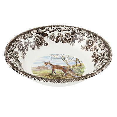 """Spode Woodland Red Fox 8"""" cereal bowl"""