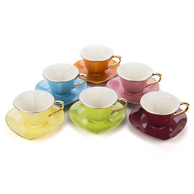 NEW Yedi Inside Out Hearts Gold Trim Tea Set for 6
