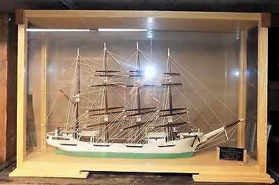 WOODEN SAILING SHIP Vancouver Washington 1930 folk art model NW nautical decor